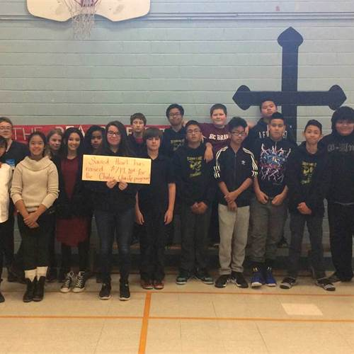 Sacred Heart students show heart
